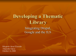Developing a Thematic Library