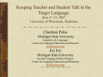 Getting Your Students to Use the Target Language in the Classroom