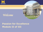 Passion for Excellence - University of Michigan