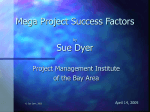 Mega Project Success Factors by Sue Dyer