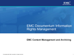 EMC Documentum Information Rights Management