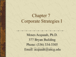 Chapter 7: Corporate Strategies