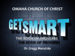 Proverbs 1- Get Smart - Omaha Church of Christ
