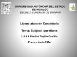 Subject questions - Universidad Autónoma del Estado de Hidalgo
