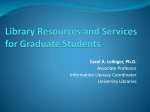 Library Resources for Graduate Students