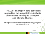 TRACCS: TRansport data collection supporting the quantitative