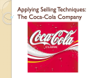 Applying Selling Techniques: The Coca