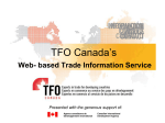 Exporting to Canada TFO Canada