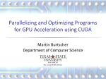 CUDA Optimization Tutorial - Department of Computer Science