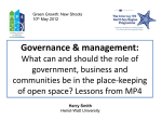 Governance and Management: lessons from MP4
