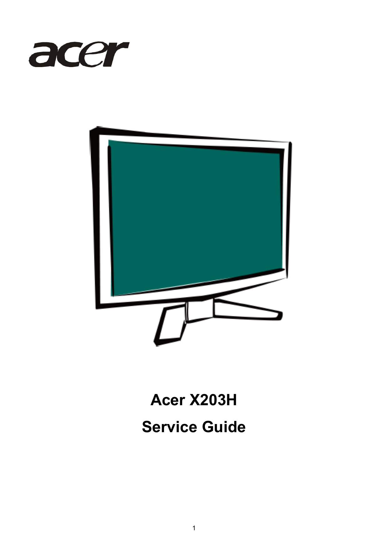 acer x203h service guide