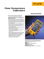 Fluke 724 Temperature Calibrator Data Sheet PDF