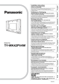 Panasonic TH-R42PV80 Tv User Guide Manual Operating