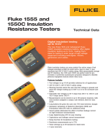 Fluke 1555 and 1550C Insulation Resistance Testers