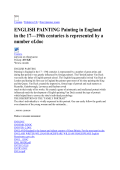 ENGLISH PAINTING Painting in England in the 17—