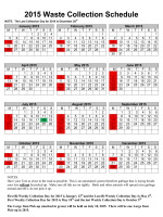2015 Garbage Collection Schedule