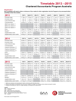 Timetable 2013 –2015 - Chartered Accountants