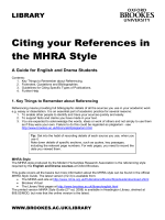 mhra texts dissertations Modern Humanities Research Association