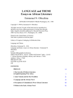 LANGUAGE AND THEME ESSAYS ON AFRICAN - SJMS E