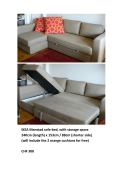 IKEA Manstad sofa‐bed, with storage space 240cm (length) x 153cm