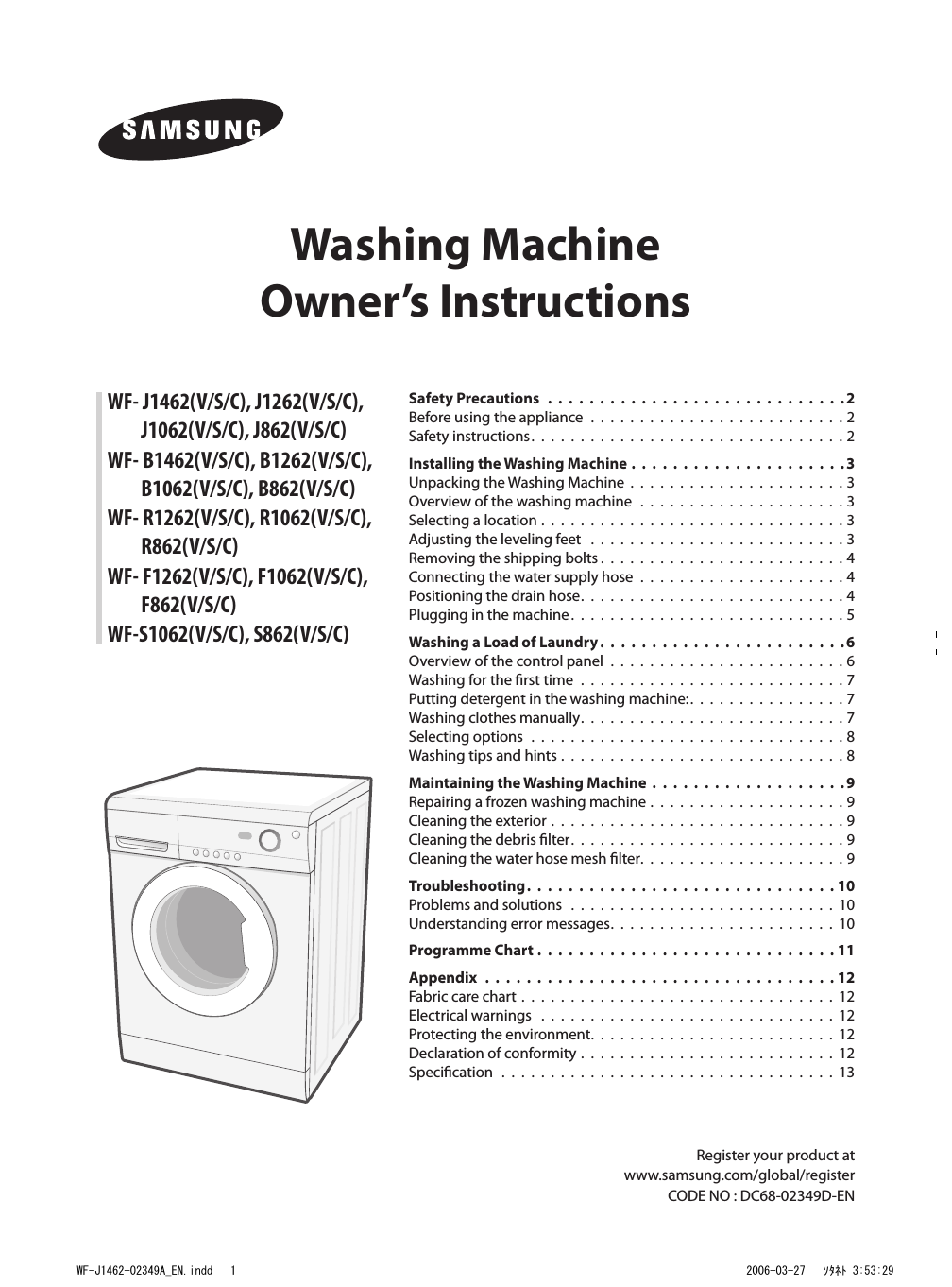 samsung wf s862 washing machine user manual pdf Samsung Washing Machine Manual Book Samsung Washing Machine Manual Book