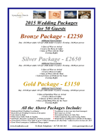2015 Bronze / Silver / Gold Package