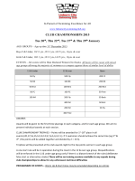 2015 Club Champs Meet Conditions