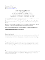 A.L.L. Study Group Proposal Spring 2015 ( 39kB)