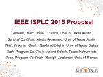 ISPLC 2015 Proposal - The University of Texas at Austin