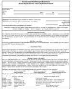 Students as Field Researchers Application Form