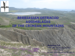 BERRIASIAN OSTRACOD ASSEMBLAGES OF THE CRIMEAN MOUNTAINS