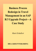 Marit Schallert - Business Process Redesign in Travel Management in an Sap R 3 Upgrade Project- A Case Study