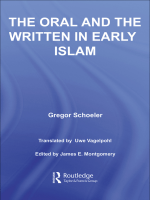 G. Schoeler - The Oral and the Written in Early Islam (Routledge Studies in Middle Eatern Literatures) (2006)