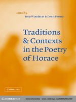 Tony Woodman Denis Feeney - Traditions and Contexts in the Poetry of Horace (2002)