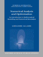 Gregoire Allaire Alan Craig - Numerical Analysis and Optimization- An Introduction to Mathematical Modelling and Numerical Simulation (Numerical Mathematics and Scientific