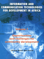 Ramata Molo Thioune - Opportunities and Challenges for Community Development- Volume 1- Information and Communication Technologies for  Development in Africa (Information an