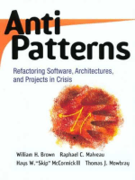 6865.William J. Brown  Raphael C. Malveau  Hays W. Skip McCormick  Thomas J. Mowbray - Antipatterns. Refactoring Software  Archtectures and Projects in Crisis (1998  Wiley).pdf