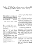 4076.The Use of Adobe Flex in Combination with Java EE Technology on the Example of Ticket Booking System