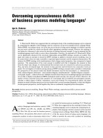 Overcoming expressiveness deficit of business process modeling languages.