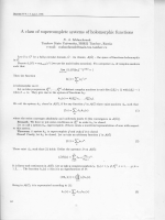 A class of supercomplete systems of holomorphic functions.