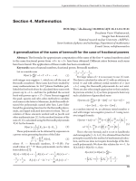 A generalization of the sums of Bernoulli for the case of fractional powers.
