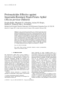 Proinsecticides effective against insecticide-resistant peach-potato aphid (              Myzus persicae              (Sulzer))