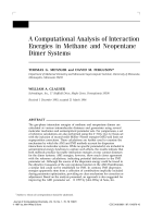 A computational analysis of interaction energies in methane and neopentane dimer systems
