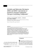 Ab initio and molecular mechanics (MM2 and MM3) calculations of positively charged conjugated nitrogen-containing compounds
