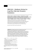 MBO(N)D A multibody method for long-time molecular dynamics simulations