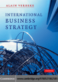 Alain Verbeke - International Business Strategy- Rethinking the Foundations of Global Corporate Success (2009  Cambridge University Press)
