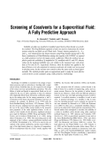 Screening of cosolvents for a supercritical fluid  A fully predictive approach.