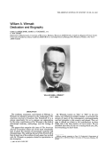 William A. Wimsatt  Dedication and biography