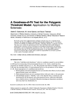 A goodness-of-fit test for the polygenic threshold model Application to multiple sclerosis.