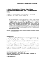 A health examination of railway high-voltage substation workers exposed to ELF electromagnetic fields.